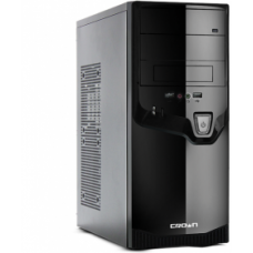 Case CROWN Miditower CMC-SM602 Black/silver, ATX, No PSU, USB2.0, Audio