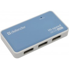 Разветвитель Defender Quadro Power <83503> 4-Port USB2.0 HUB + Б.п