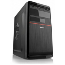 Case VELTON Minitower 7808A Black/red, mATX, 400W, USB3.0